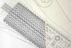 a set of case study drawings documenting renzo piano s traveling pavilion for ibm