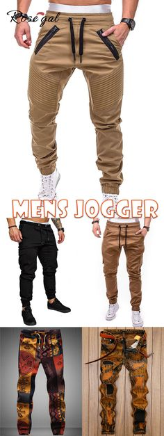 Rosegal Faux Back Pocket Zipper Decorated Jogger Pants mens casual dress outfits - Casual Outfit Mens Casual Dress Outfits, Business Casual Outfits, Casual Pants, Mens Fashion Wear, Look Fashion, Fashion Ideas, Mode Masculine, Jogger Pants Style, Jogger Pants Outfit