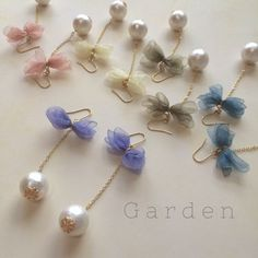 Pearl Earrings with a bow