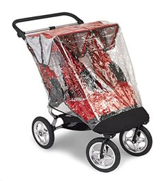 Baby Jogger City Elite Double Rain Canopy - PVC Free (Discontinued by Manufacturer)