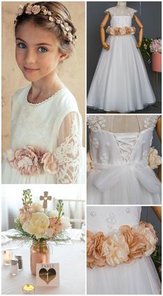 US$169, now 10% discount Promotion code:【 VPVERANO】 First communion dress, flower girl dress Spanish Dress, Spanish Style, Wedding Bouquets, Wedding Dresses, Classic Wedding Invitations, Communion Dresses, First Communion, Flower Girl Dresses, Promotion Code