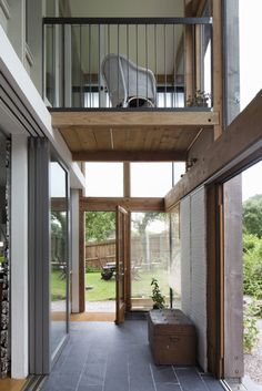 Modern balcony, veranda & terrace by CRSH Architecture and Energy. https://www.homify.co.uk/ideabooks/35023/an-ode-to-nature-in-the-welsh-countryside