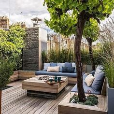 Rooftop Deck with Built In Benches