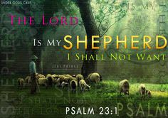 Words to live by. When the Lord Jesus is our Shepherd, it is then that we have no wants.