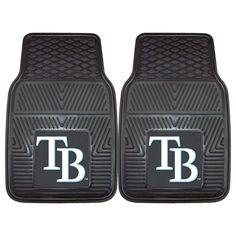 """Tampa Bay Rays Heavy Duty 2-Piece Vinyl Car Mats 17x27 - Protect your vehicle's flooring while showing your team pride with car mats by FANMATS. 100% vinyl construction with non-skid backing ensures a rugged and safe product. Universal fit makes it ideal for cars, trucks, SUVs, and RVs. The officially licensed design in true team colors are permanently molded for longevity.FANMATS Series: CARVINHTeam Series: MLB - Tampa Bay RaysProduct Dimensions: 17""""x27""""Shipping Dimensions: 27""""x18""""x1""""…"""