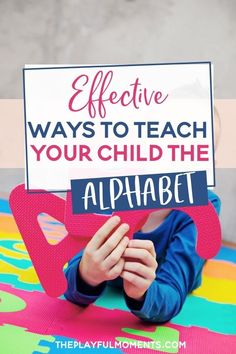 13 novel ways to teach your child the alphabet, letters and sounds. Plus learn a new way to sing the alphabet song. #alphabet #learnthealphabet #teachthealphabet #alphabetactivities #lettersandsounds