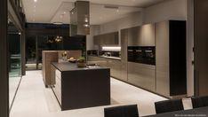 10 Must-Haves para uma cozinha de luxo Modern Mansion Interior, Luxury Homes Interior, Interior Design, Big Houses, Pool Houses, House Wall Design, Design Azul, Mansion Kitchen, Eco Friendly House