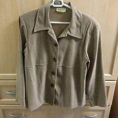 Tan jacket Tan no lining blazer size 10 wrapper Jackets & Coats Blazers