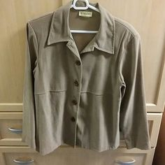 Selling this Tan jacket in my Poshmark closet! My username is: baysidelu. #shopmycloset #poshmark #fashion #shopping #style #forsale #wrapper #Jackets & Blazers