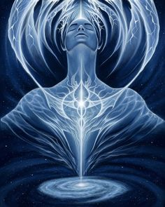 """The """"Dark Night Of The Soul"""" is very common for people during the process of soul transmutation or alchemy where all the stored darkn. Yin Yang, What Is Synchronicity, Art Chakra, Blue Chakra, Chakra Painting, Vishuddha Chakra, Art Visionnaire, Ascension Symptoms, Shiatsu"""