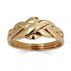 PalmBeach Jewelry 10k Gold Puzzle Ring (€270) ❤ liked on Polyvore featuring jewelry, rings, gold jewelry, yellow gold jewelry, yellow gold rings, gold rings and gold jewellery