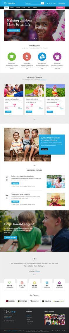 The Charity - Charity \/ Nonprofit \/ Fundraising WordPress Theme - ngo templates