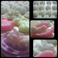 Decorative hand made soap. Fragrant and neon colors