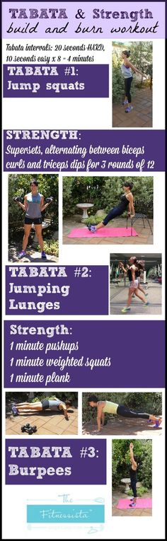Tabata and strength workout! Build and burn