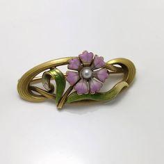 Art Deco Antique 19th C Victorian 14k Gold & 2ct Bohemian Garnet Gemstone Lapel Stick Pin