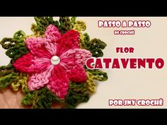 Flor Real Crochê   Passo a Passo   Luana Jaworski - YouTube
