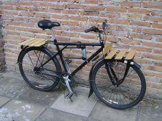 Wood bike racks