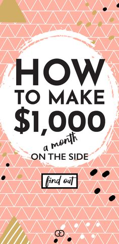 Great legit ideas to make extra money on the side this month! Learn how to make extra money from home (at least $1,000 - easy!). #makemoneyonline #makemoneyfromhome #makemoneyathome #sidehustle