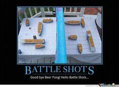 Battle Shots! I don't play drinking games, but I definitely appreciate a good idea!!!