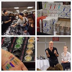 Some moments from day 2 so far at The Makeup Show Popup Shop #sanfrancisco! @jvincentmakeup working the @crownbrush booth. @embryolisseusa and their cult #musthaves, @eyekandycosmetics and their pro favorite glitter and @victorcembellin in his seminar for @maccosmetics.
