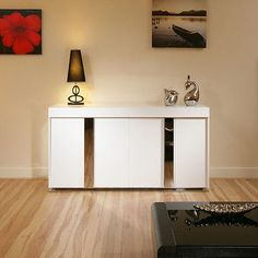 Modern Sideboard / Cabinet / Buffet in White High Gloss 1.6mtr 912M
