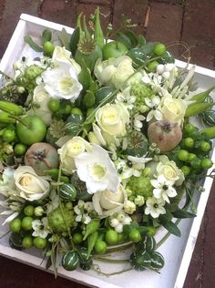 Raindrops and Roses Succulent Arrangements, Floral Arrangements, Fresh Flowers, Beautiful Flowers, Raindrops And Roses, Bouquet, Fruit Decorations, Flower Festival, Branch Decor