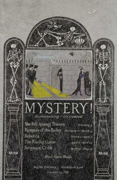 "Edward Gorey,""Mystery!"" Theatre Poster by Edward Gorey for the PBS television series"