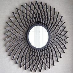 Dahlia Round Wall Mirror  | Crate and Barrel