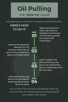 Pin this for a way to whiter teeth! Here's how to use coconut oil pulling for a healthier smile!