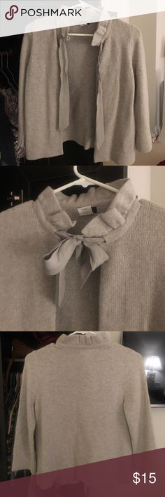 Grey tie cardigan Gently worn. In good condition J Crew Sweaters Cardigans