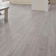 Professional V Groove Light Grey Oak laminate flooring