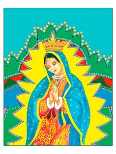 Virgin de Guadalupe Posterboard Mexican Folk by FreehandStudios, $20.00