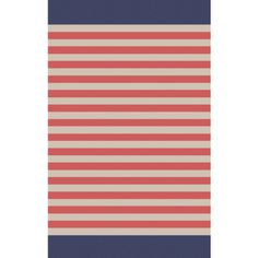 Fun, fresh beachy design of coral and pelican gray stripes, finished with a navy blue wide stripe on the edge make this a great area rug for a coastal home. Nautical Rugs, Coastal Rugs, Coastal Decor, Kinds Of Colors, Rug Sale, Living Room Colors, Accent Furniture, Grey Stripes, Accent Decor