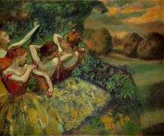 Edgar Degas, Quatre danseuses, c. 1899; Oil on canvas, 151.1 x 180.2 cm (59 1/2 x 71 in); National Gallery of Art, Washington