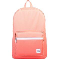 Herschel Supply Co. Pop Quiz Laptop Backpack ($75) ❤ liked on Polyvore featuring bags, backpacks, laptop backpacks, orange, mesh bag, waterproof laptop backpack, orange backpack and padded laptop backpack
