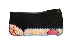 Best Ever Pads, Saddle Pad, Western Tack, Horse Tack, Custom Painted, OG Wool, Rodeo, Horses, Custom