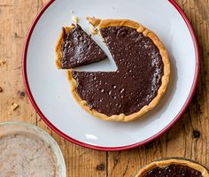 Baked Chocolate Tart - A traditional chocolate tart that's as easy as pie. You can make it too! Click for the recipe »