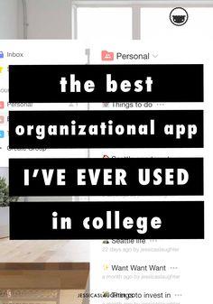 Die beste Organisations-App, die ich jemals im College verwendet habe - # College Hacks, College Fun, College Life, Best College Apps, College Football, Espn College, Uni Life, College Notes, College Essentials