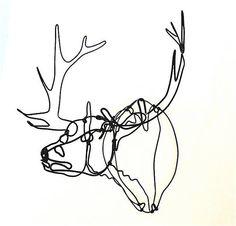 Elk Head Wire Sculpture on Etsy, $67.99 AUD