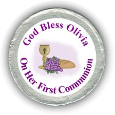 Grapes First Communion Chocolate Coins