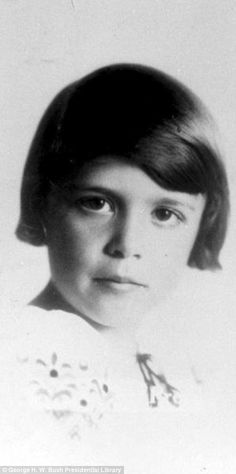 Barbara Pierce, who was born in New York City, as a child aged seven. She was raised in the suburban New York town of Rye in Westchester County.
