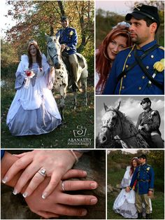Abanathy Photography, LLC had the exciting opportunity of traveling to Gettysburg, PA to cover a civil war-theme wedding.