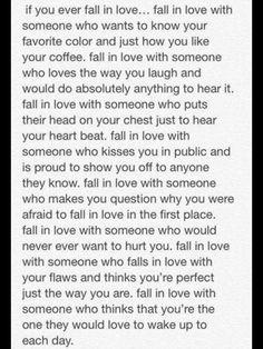 How to fall in love. Yep. True!!!