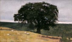 David Larned, Scottish Tree, Oil on Panel, 10 x 16 Inches, 2007 Landscape Paintings, Landscapes, Topiary, Painting Inspiration, Environment, David, Tree Oil, Gallery, Rocks