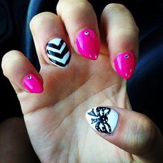 Short stiletto nails!