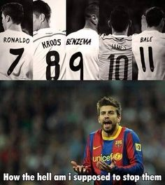 Oh, Pique! Only soccer fans would understand! Funny Football Memes, Sports Memes, Funny Memes, Football Is Life, Football Players, Football Art, Real Madrid And Barcelona, Football Trophies, Soccer Fans