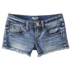 Mossimo Supply Co. Denim Short - Medium Wash $19.99. I like these shorts because they are not SUPER short like most girls are wearing these days. I don't like the look of having my ass/butt cheeks hanging out. It's not cute. So these seem nice and I like the medium wash to them. They're just basic denim shorts for summer.