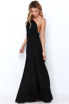 Tricks of the Trade Black Maxi Dress at Lulus.com!