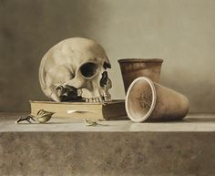 Dennis Mogelgaard (b. 1959) Still life with skull