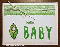"""Baby card made with Stampin'UP!'s """"Friends and Flowers"""" stamp set, in the Occasions 2016 Catalog"""